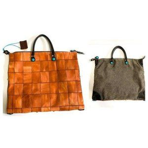 New Gabs Convertible tote bag in patchwork leather